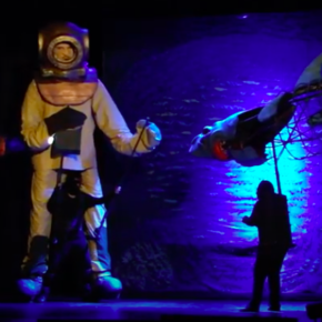 """Claudio Antonio Pérez Tapia - """"Paraíso Abisal"""", breve historia de una obra de teatro con marionetas gigantes."""