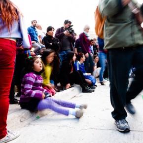 publico Danzalborde en Cerro Cordillera / Foto Jorge Villa Moreno