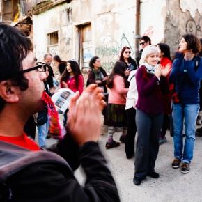 público de Danzalborde en Cerro Cordillera / Foto Jorge Villa Moreno